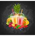 fruit and berries smoothie vector image vector image