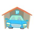 Garage icon cartoon style vector image vector image