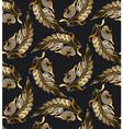 gold Art Nouveau style pattern vector image vector image