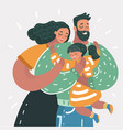 happy family father mother son vector image vector image