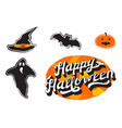 happy halloween collection vector image