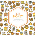 honey signs design round design template line icon vector image vector image