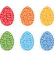 image decorative easter eggs vector image vector image