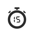 isolated stopwatch icon with fifteen seconds vector image