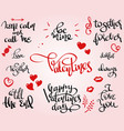 love and stvalentine themed lettering set vector image vector image
