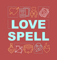 love spell word concepts banner magic potion