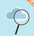 Magnifier with cloud - - EPS10 vector image