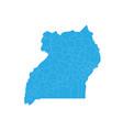 map of uganda high detailed map - uganda vector image vector image