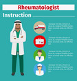 medical equipment instruction for rheumatologist vector image vector image