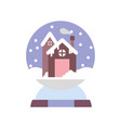merry christmas celebration gingerbread house in vector image vector image