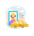 mobile app for booking taxi flat icon vector image