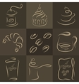 morning breakfast set coffee logos vector image