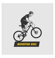 mountain bike logo vector image