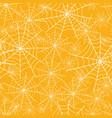 orange spiderweb halloween seamless repeat vector image vector image