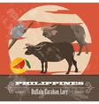 Philippines landmarks Retro styled image vector image