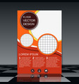 professional business flyer design vector image vector image