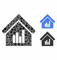 realty bar chart mosaic icon round dots vector image vector image
