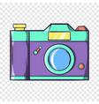 retro hipster photo camera icon cartoon style vector image