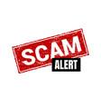 scam grunge red stamp square sign label vector image