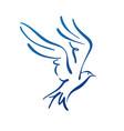 seagull flying design silhouette logo vector image vector image
