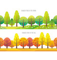 seamless forest in spring and in autumn vector image vector image