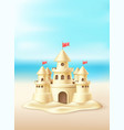 seaside sand castle coastline coast shore vector image