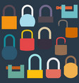 set of flat icon locks vector image
