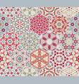 set of hexagonal patterned tiles vector image vector image