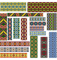Set of Seamless Patterns for Embroidery Stitch