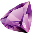 shiny beautiful amethyst vector image vector image