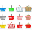 Shopping baskets vector image