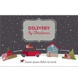 Special christmas delivery vector image vector image