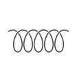 spiral spring icon of swirl line or curved wire vector image