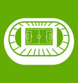 stadium top view icon green vector image