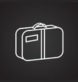 summer luggage thin line on black background vector image vector image
