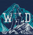t shirt design say yest to new adventure with man vector image vector image