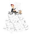 Too much documents vector image vector image