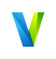 V letter one line colorful logo design template vector image vector image