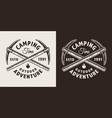 vintage monochrome mountaineering label vector image vector image