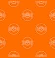 vinyl record pattern orange vector image vector image