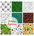 seamless pattern of science and knowledge vector image