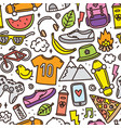 teenager hipster objects seamless pattern vector image