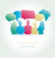 People communicating social media vector image