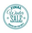 Winter sale label Badge Logotype of winter sale vector image