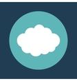 cloud emblem on blue background icon image vector image