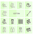 14 cotton icons vector image vector image