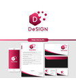 abstract design logo branding with business card vector image