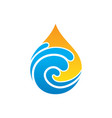abstract wave waterdrop nature logo vector image vector image