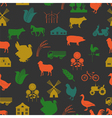 Agriculture background seamless vector image