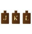 alphabet keyring and fob jkl vector image vector image
